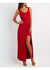 Wrapped Cut-Out Maxi Dress