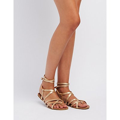 Ankle Wrap Gladiator Sandals