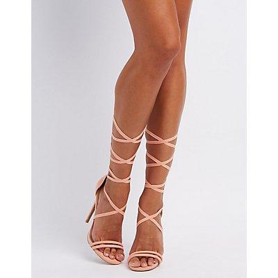 Lace-Up Dress Sandals