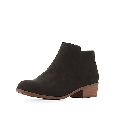 Qupid Almond Toe Chelsea Boots