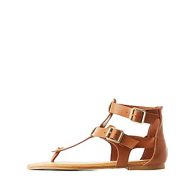 Bamboo Buckled Gladiator Sandals