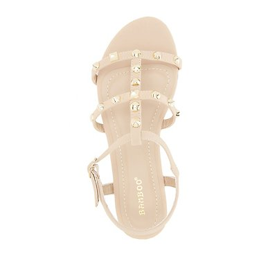 Bamboo Strappy Studded Sandals