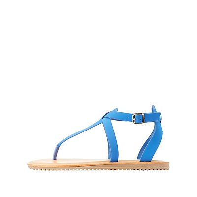 Bamboo Buckled Thong Sandals