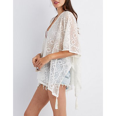 Lace Tassel-Trim Kimono