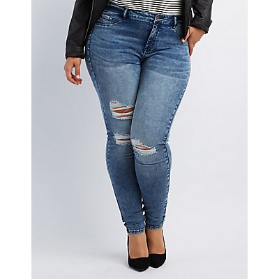 PlusSized Denim Trends from Charlotte Russe