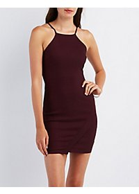 Envelope Hem Bodycon Dress