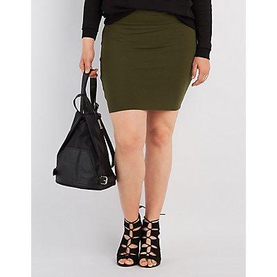 Plus Size Bodycon Mini Skirt