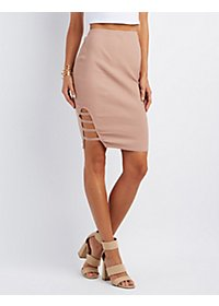 Caged Pencil Skirt