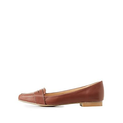 Bamboo Pointed Toe Penny Loafers