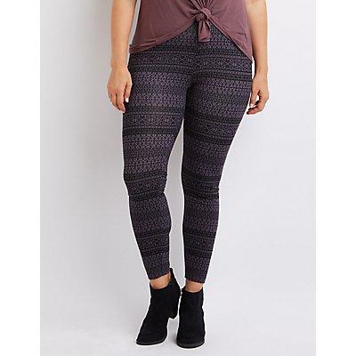 Plus Size Printed Leggings