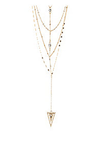 Arc Y-Chain Layered Necklace
