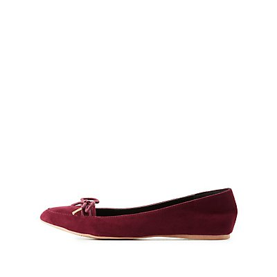 Qupid Pointed Toe Loafers