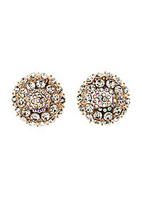 Oversize Rhinestone Stud Earrings