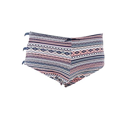 Strappy Printed Boyshort Panties