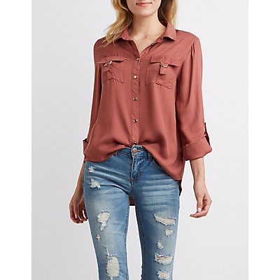 D-Ring Pocket Button-Up Shirt