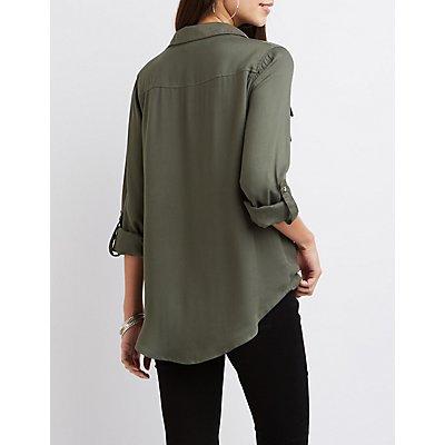 D-Ring Pocket Button-Up Shirt