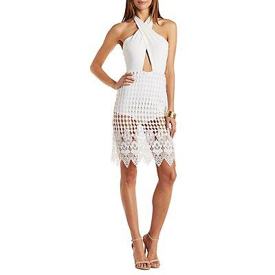Cut-Out Crochet Midi Dress