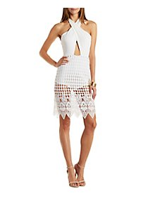 Cut-Out Crochet Midi Dress