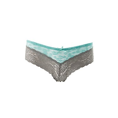 Two-Tone Lace Cheeky Panties