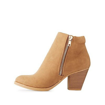 Side Zip Ankle Booties