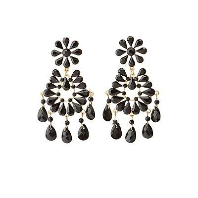 Faceted Stone Drop Earrings