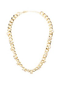 Embellished Chainlink Statement Necklace