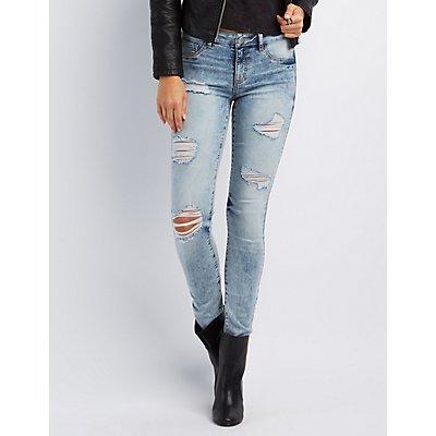 """Refuge """"Skin Tight Legging"""" Destroyed Jeans"""