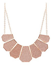 Glitter Chevron Collar Necklace
