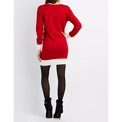 Santa Outfit Sweater Dress