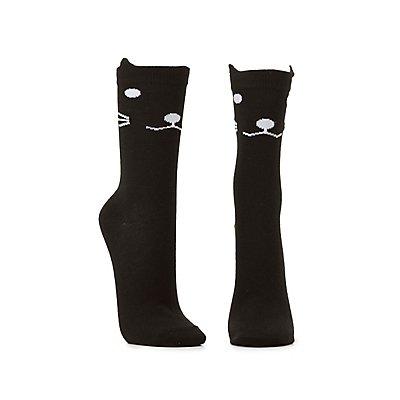 Scalloped Cat Socks