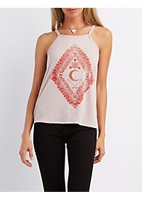 Moon Graphic Sparkle Tank