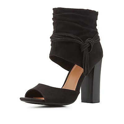 Bamboo Covered Ankle Chunky Sandals