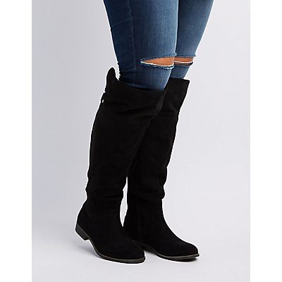 Wide Width Flat Over-The-Knee Boots