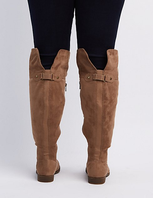Wide Width Flat Over-The-Knee Boots | Charlotte Russe