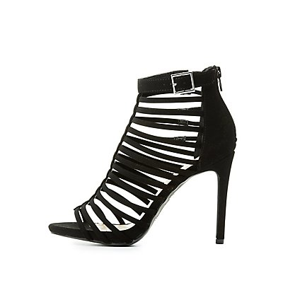 Open Toe Caged Dress Sandals