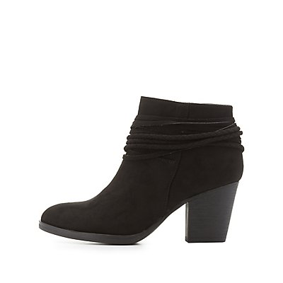 Bamboo Ankle Wrap Booties