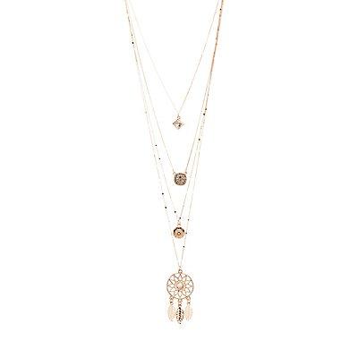 Dreamcatcher Layered Necklace