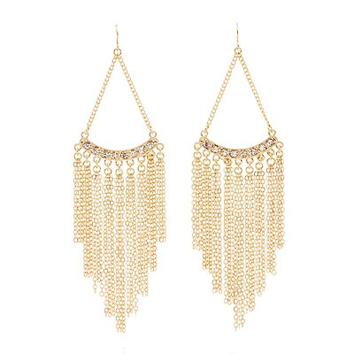 Chainlink Fringe Chandelier Earrings