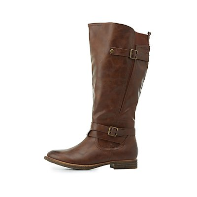 Wide Width Gored Riding Boots