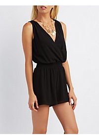 Caged Surplice Romper