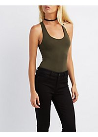 Scoop Neck Racerback Bodysuit
