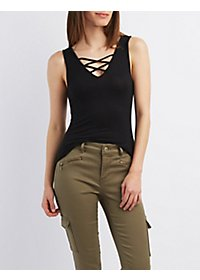 Strappy V-Neck Tank Top
