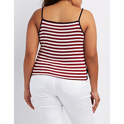 Plus Size Caged Americana Tank Top