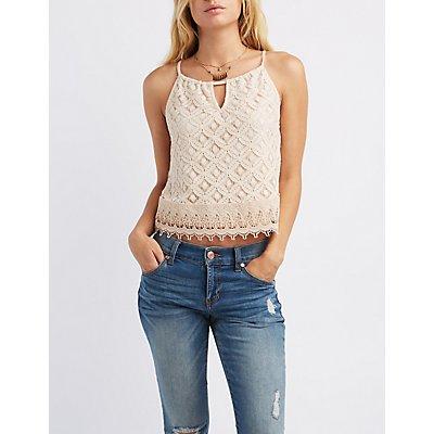 Lace & Crochet Tank Top