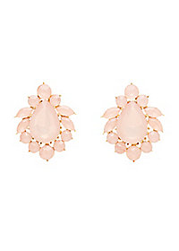Facete Stone Stud Earrings