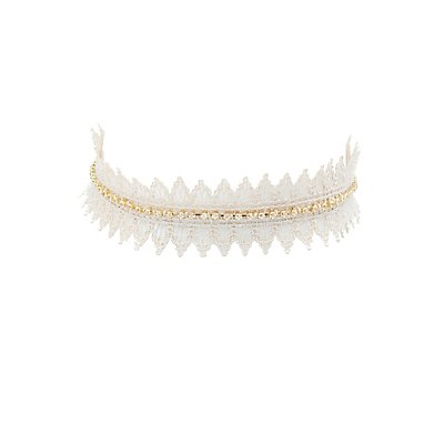 Embellished Lace Choker Necklace