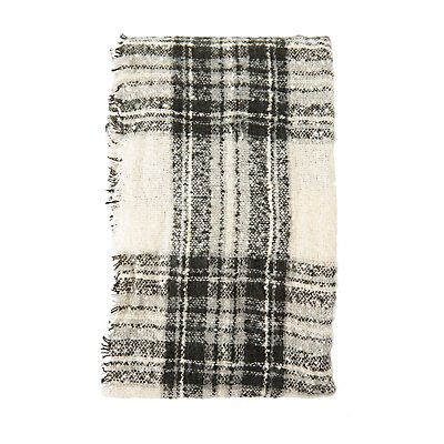 Plaid Oversized Blanket Scarf