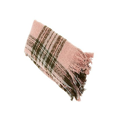 Plaid Oversized Blanket Scarf
