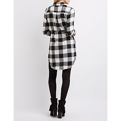 Buffalo Check Shirt Dress