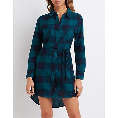 Buffalo Check Shirt Dress